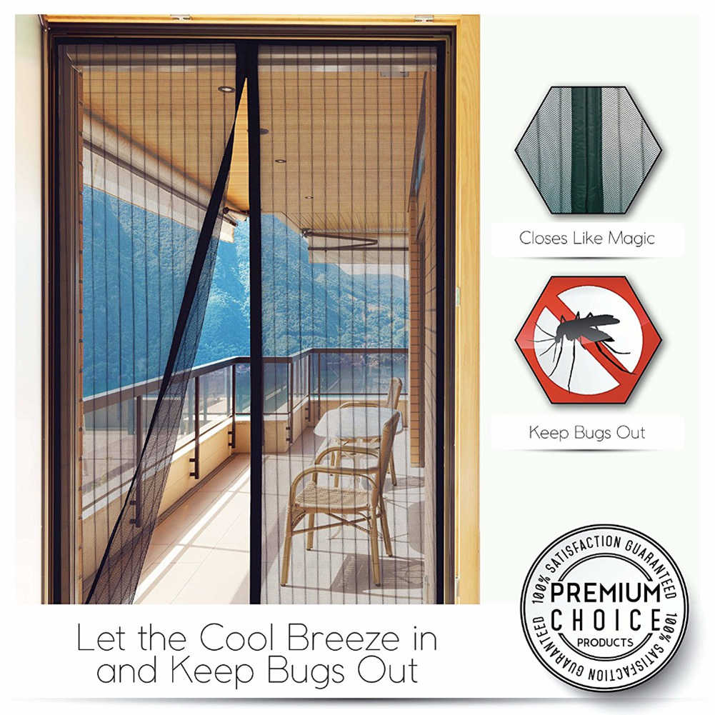 Summer  Mesh Net Anti Mosquito Insect Fly Bug Curtain Automatic Closing Door Screen Kitchen Curtain 5 Size