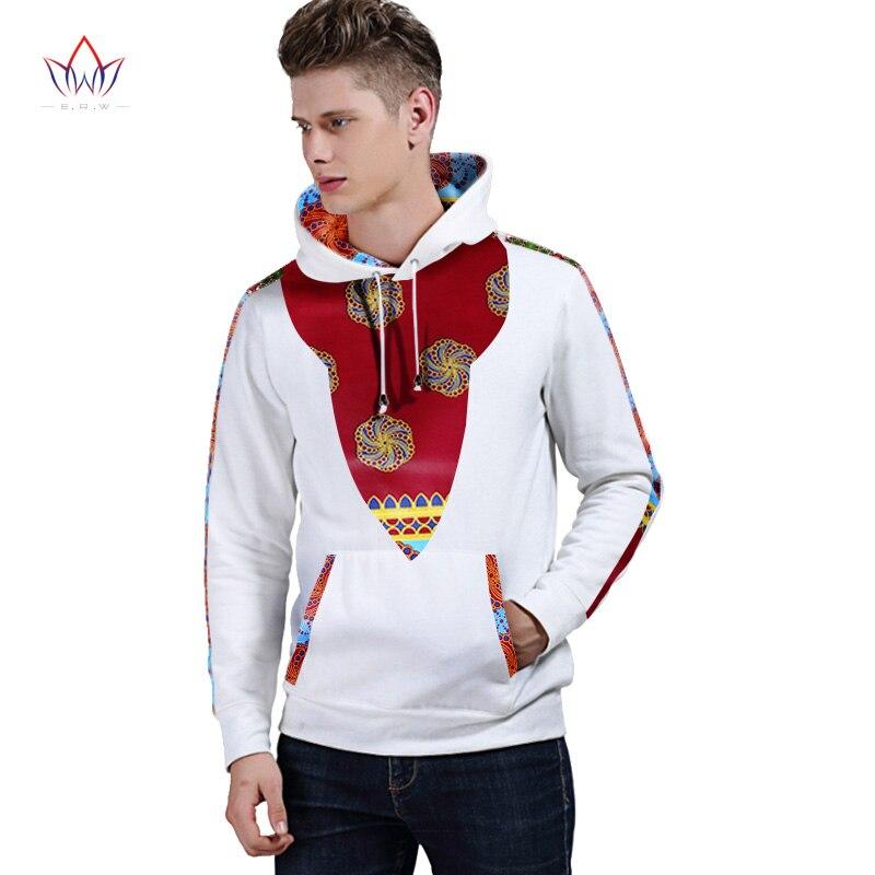 Hiver automne nouveaux hommes vêtements vêtements africains marque traditionnelle vêtements sweat à capuche pour homme vêtements blancs hommes Dahiki BRW WYN226 - 4