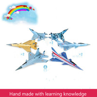 Magic Roundabout Combat Aircraft Toys For Children Foam Paper Airplane Model Hand Throw Flying Glider Planes Kids Toys