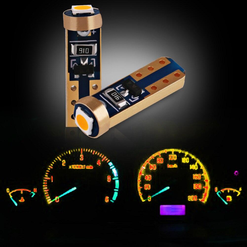 10//20pcs T5 COB 1LED Car Dashboard Gauge Instrument Lights Bulbs Wedge New 2019