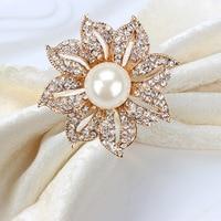 12/pcs Hotel Western Restaurant Wedding Banquet Nest Napkin Clock napkin ring napkin ring Metal mouth cloth