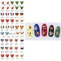 1 Лист Формы Сердца Nail Art Воды Наклейка Национальный Флаг Ногтей Маникюр Стикер Передачи DS325 #33199