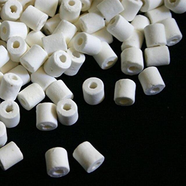 500g Prémio Bio Anéis de Cerâmica com Saco de Rede para Koi Lagoa Tanque de Peixes de Aquário Filtro Canister Mídia Filtro Biológico filtro