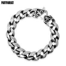 Skull skeleton stretch bracelet for men biker jewelry antique silver color Fashion Bracelets SL510