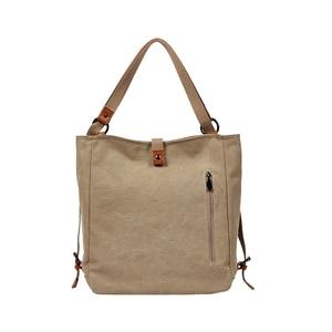 Image 5 - Moda płócienna torba na ramię kobiety plecak szkolne plecaki dla nastolatek dziewczyny kobieta plecak Bolsas Mochilas duże torby podróżne