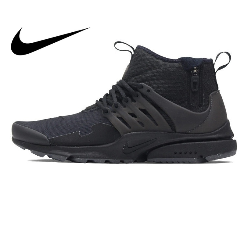 58470f9d51f3 Original NIKE AIR PRESTO MID UTILITY Men Running Shoes Sneakers High cut  Breathable Outdoor Sports Designer Athletics Official-in Running Shoes from  Sports ...