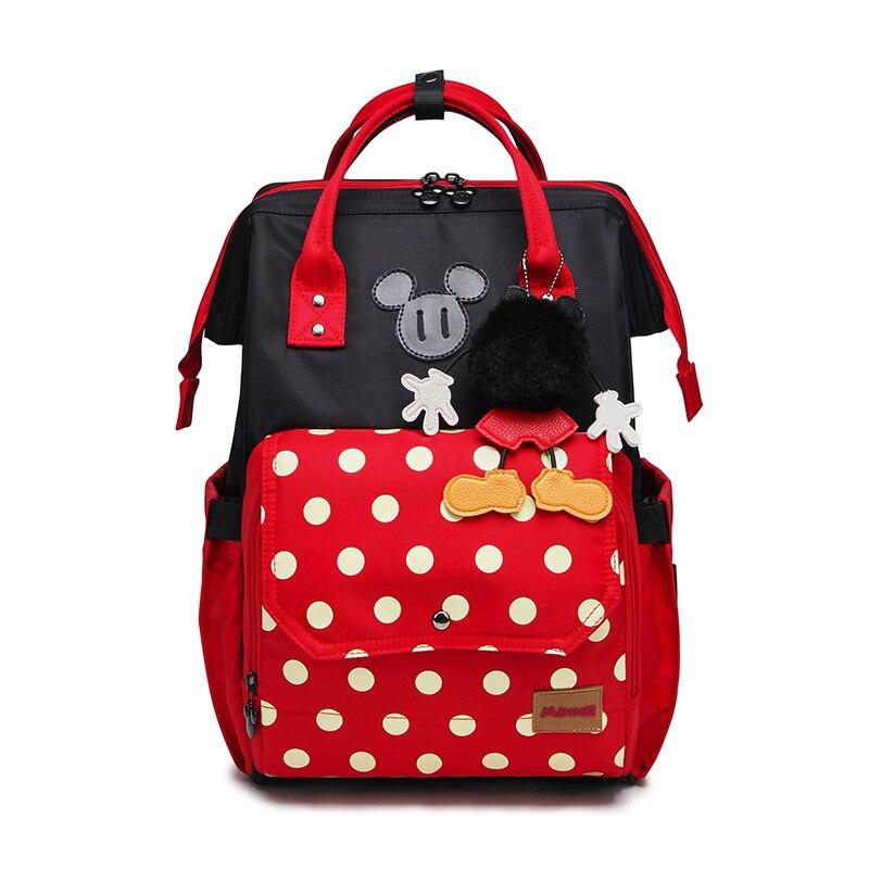 Disney Minnie <font><b>Baby</b></font> Bag Fashion Nappy Bags Large Diaper Bag Backpack Organizer Maternity Bags Mother <font><b>Handbag</b></font> <font><b>Baby</b></font> Nappy Backpack