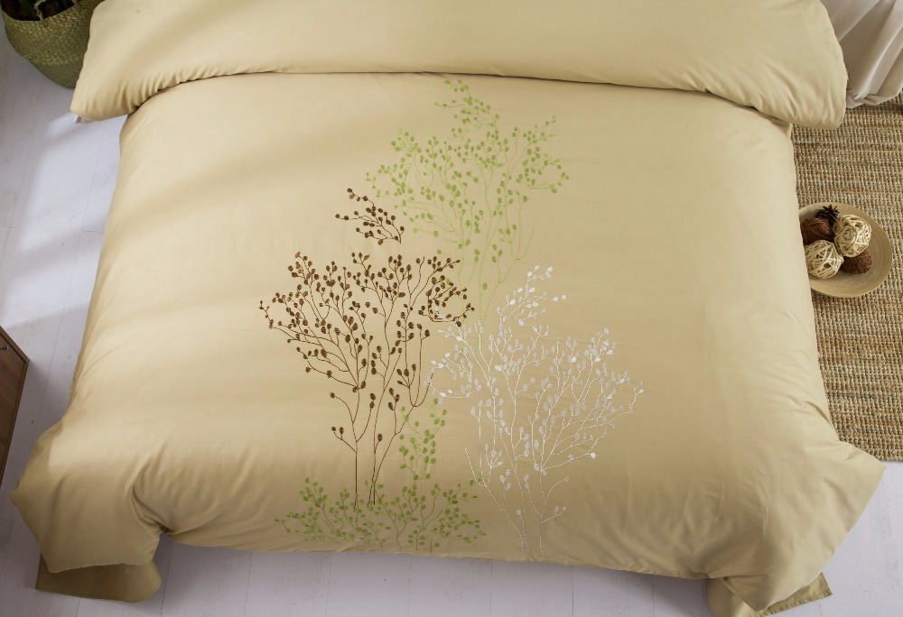 4 UNIDS 100% Algodón Bordado Decoración de la boda ropa de cama - Textiles para el hogar - foto 6