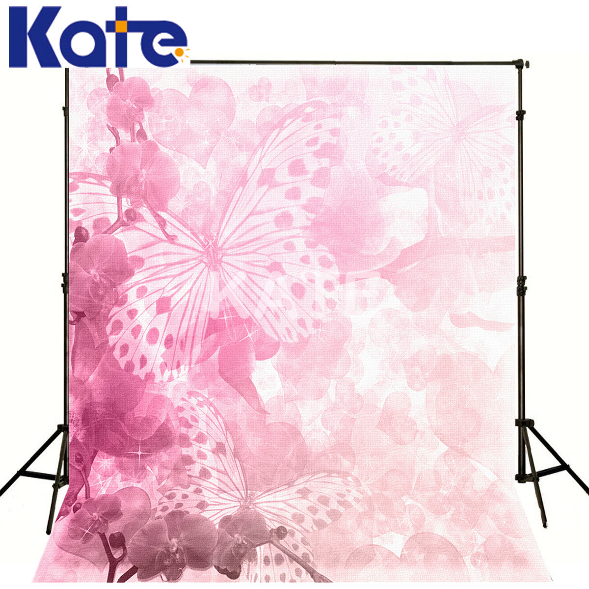 Kate Digital Printing Photo Studio Backdrop Pink Background Pink Flower Butterfly Kate Photo Studio Props Baby kate photo background scenery