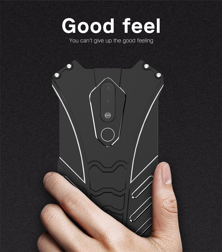 For Nokia X5 Case Original R-JUST Batman Armor Aluminum Metal For Nokia 5.1 plus Case Shockproof Coque (6)