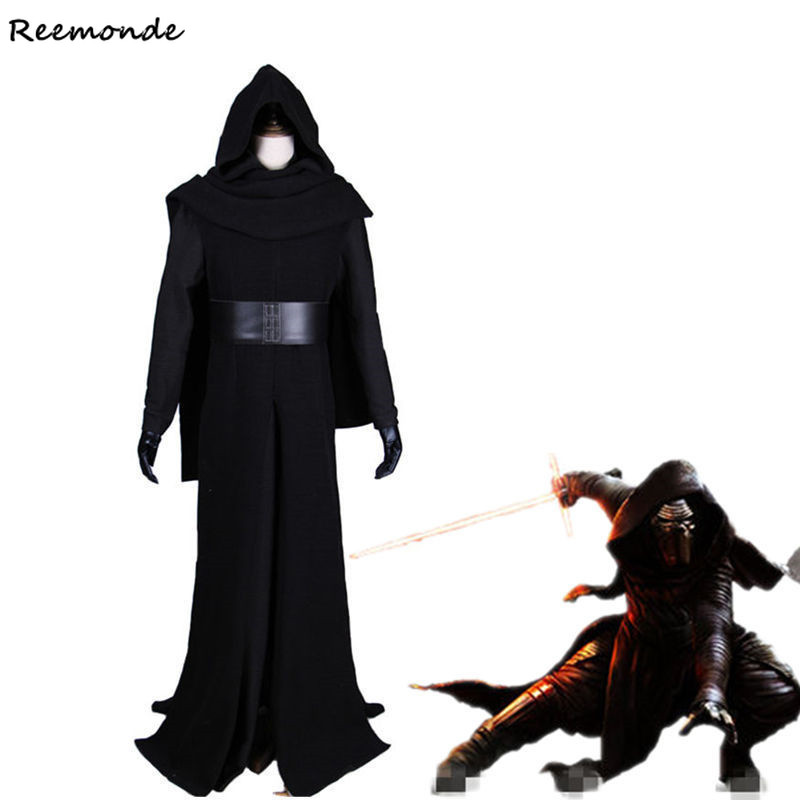 Star Wars The Force Awakens Kylo Ren Cosplay Costume Villain Deluxe Full Set Outfit Costumes For Adult Men Boys Party Clothes