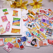 158pcs/packs Stickers scrapbooking foods drinks planner stickers girls kawaii beauty book sticker cute Creative new