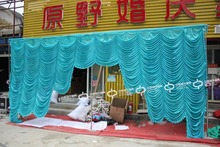 2016 Top selling 20ft*10ft falls wedding backdrops ,wedding stage draps color can be customed