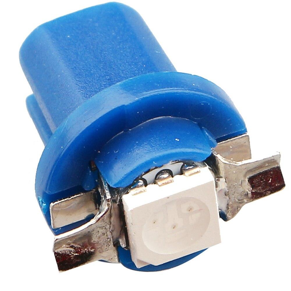 Prix pour Nouveau!!! 50 PCS B 8.5 wedge ampoule Lumineux B8.5 5050 1 LED 1 SMD Gauge Dashboard Ampoules Instrument Lumière blanc couleur