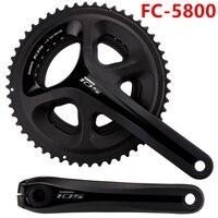 Распродажа shimano FC 5800 11 s дорожный мотоцикл колеса цепи Велосипеды велосипед шатуны 165 мм 175 мм рукоятки Chian колесо с рукоятки