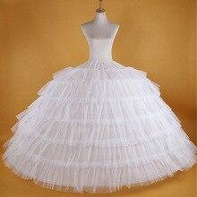 ใหม่ขายร้อน 6 Hoops บิ๊กสีขาว Petticoat Super Fluffy Crinoline SLIP Underskirt สำหรับงานแต่งงานชุดเจ้าสาวในสต็อก