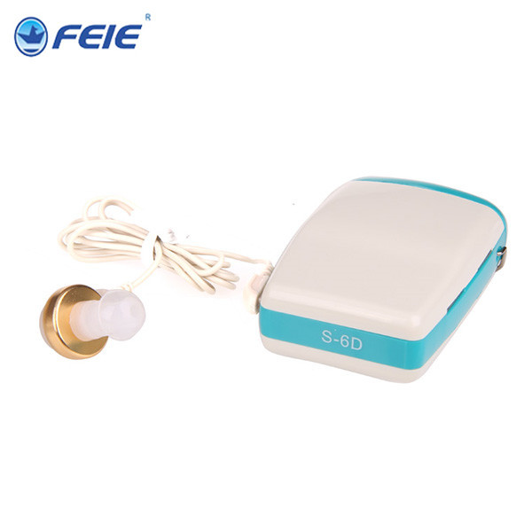 Feie Aparelho Auditivo Bolso Dispositivo de Escuta de Compras Online Ajuda Surdos S-6D resposta telefone