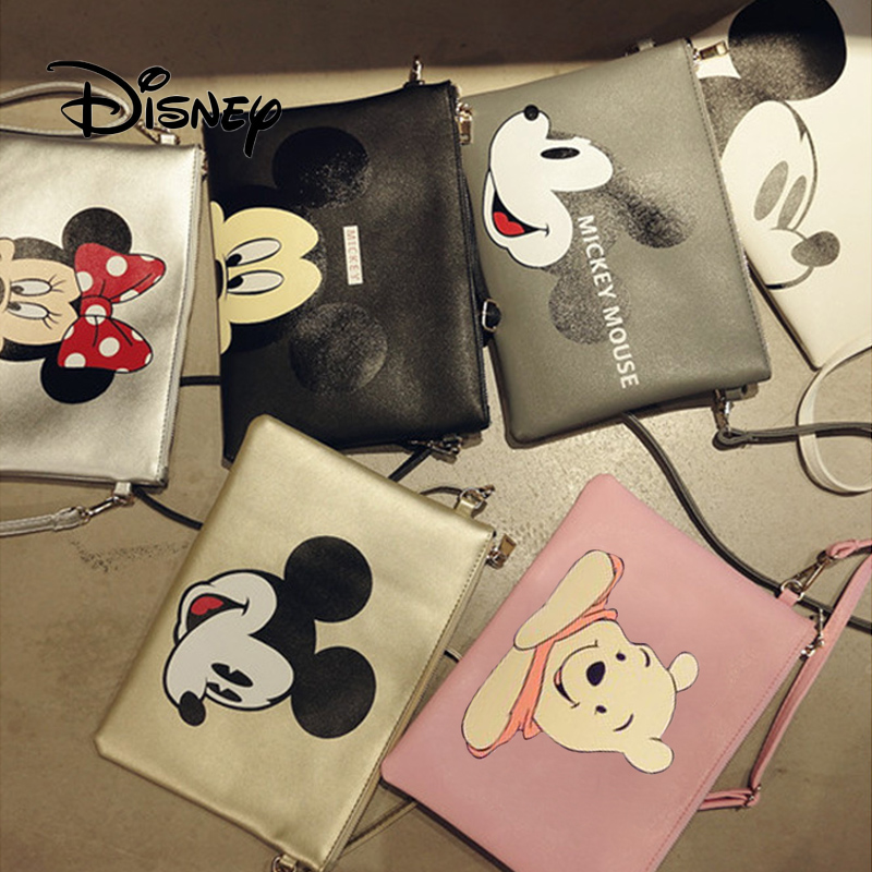 Disney Plush Backpack Mickey Mouse Women's Clutch Crossbody Bags Girl Minnie Messenger Shoulder Bags Female Packet Travel Bag