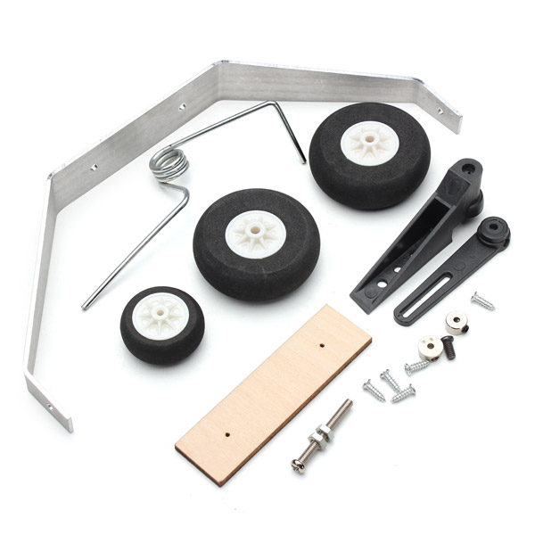 Aluminum Alloy Taildragger Tricycle Landing Gear w/Steering Tail Wheel For RC Airplane Spare Parts 1 set of aluminum alloy anti shock leg landing gear with wheels sz002 16002 for rc airplane