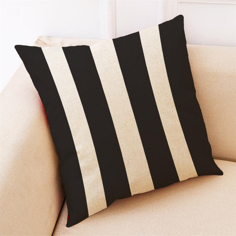 Cushion Cover Black And White Sofa Car 45 * 45cm Throw Pillow Covers Geometric Decorative Pillowcase 18FEB2
