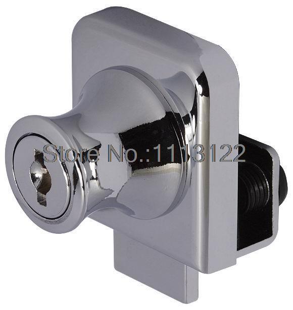 b2bec31d038 239 Single Glass Door Locks One Door Open Glass Cabinet Jewelry Showcase  lock Telephone counter lock glass lock 1 PC