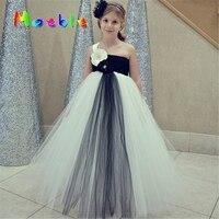 שחור בז 'בנות Vestidos פרח ילדי שמלת טוטו תלבושות עבור בנות פלאפי טוטו ילדה פרח הילדה שמלת חתונת