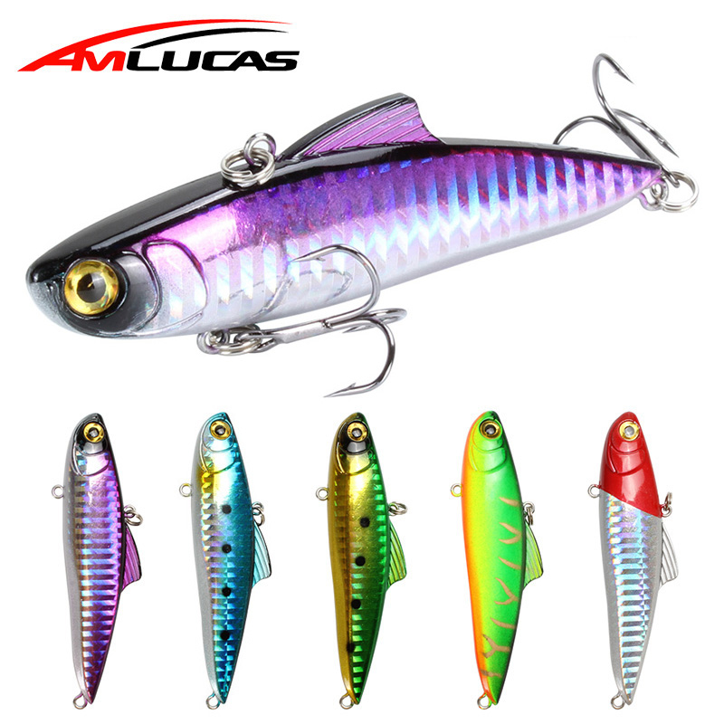 Amlucas Sinking VIB Fishing Lure Artificial 85mm 21.7g Pesca Fish Vibration Wobbler Crankbaits Japan Ice Hard Bait Carp Fishing
