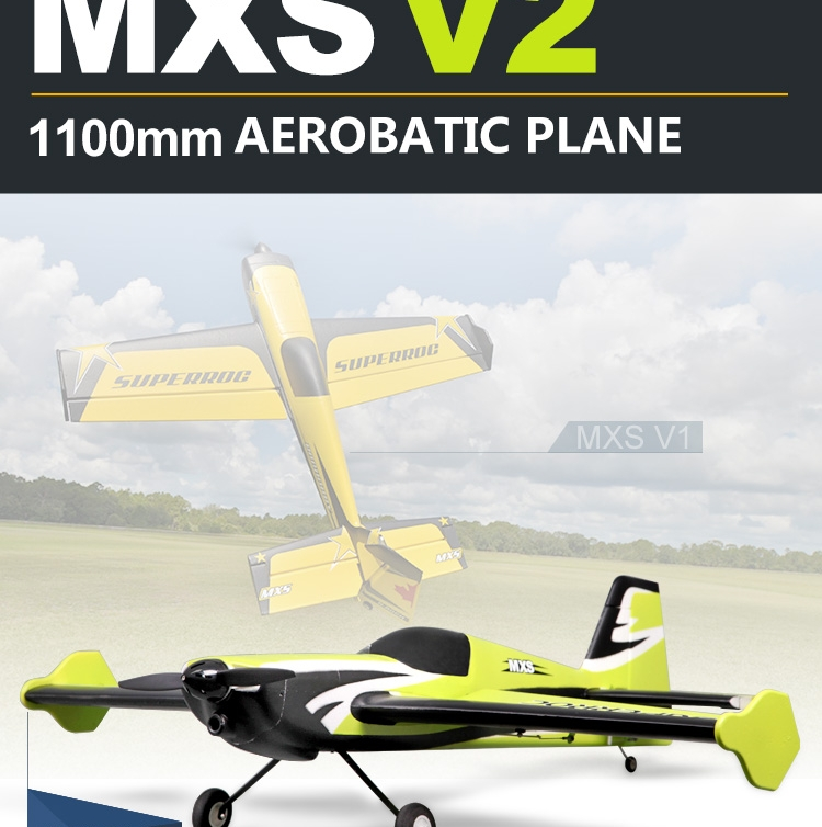 FMS 1100MM 1.1M MXS V2 Green 4CH 3S Durable EPO Aerobatic 3D PNP RC Airplane