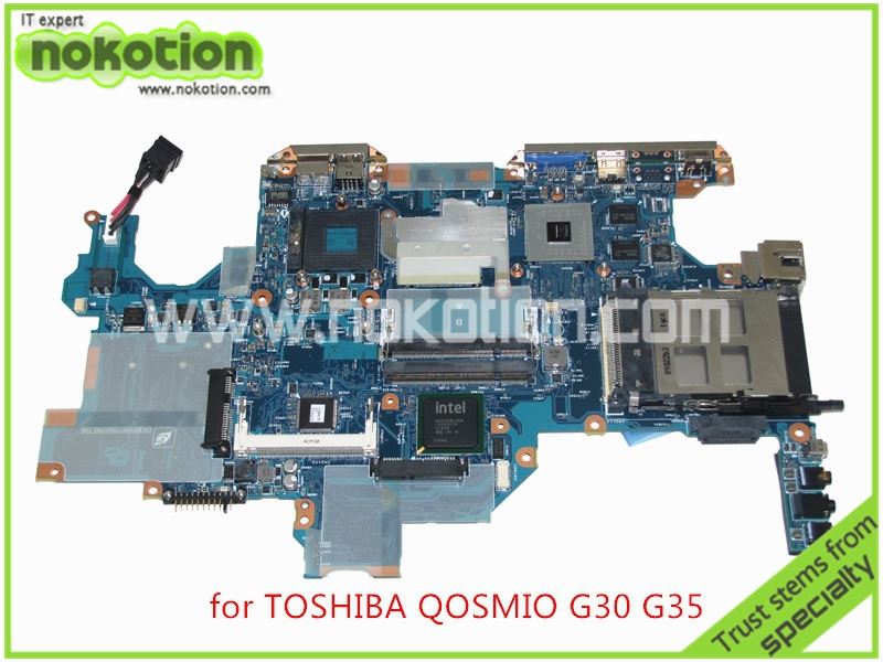 A5A001795030 FCHSY3 Laptop Motherboard FOR TOSHIBA Qosmio G30 G35 With Intel 945pm ddr2 nvidia Go7600T graphics Mainboard cheap price intel 945 lga775 socket motherboard with intel pentium 4 ps2 chip isa ddr2 core 2 duo 945gv micro atx mainboard