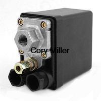 240VAC 4 Ports NO NC Double Pole Dual Throw Air Compressor Pressure Switch