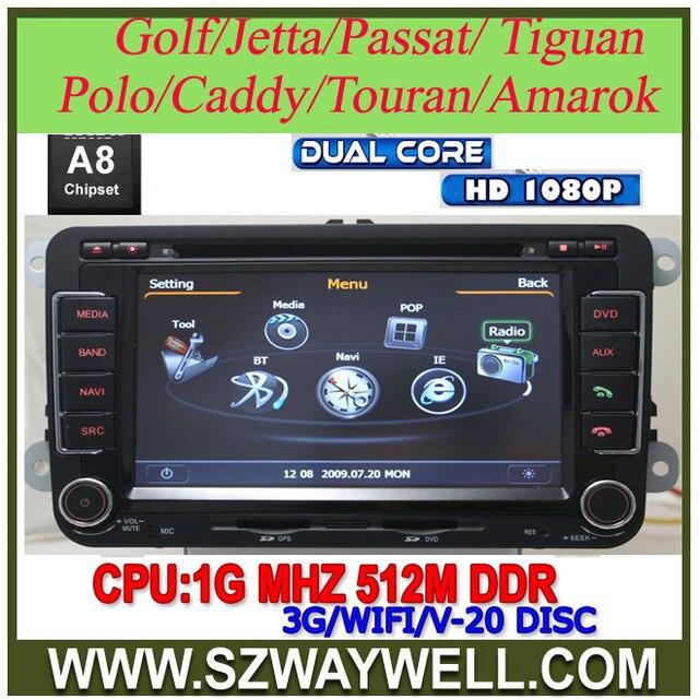 Dual Core 1080P Car DVD GPS for VW Golf 5 6 Polo Passat CC Jetta Tiguan Touran Sharan Eos amarok Transporter T5 seat