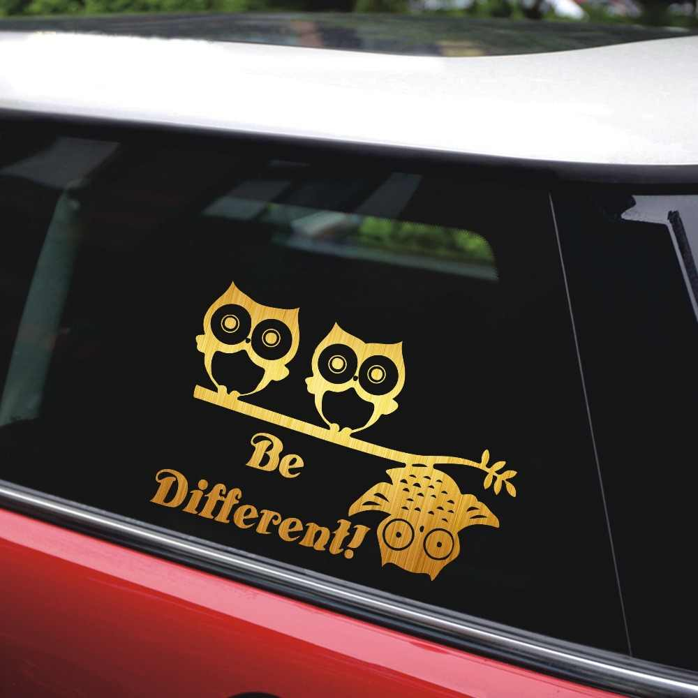 Rylybons diy 18cm12cm owls different birds limb vinyl car sticker decal car styling
