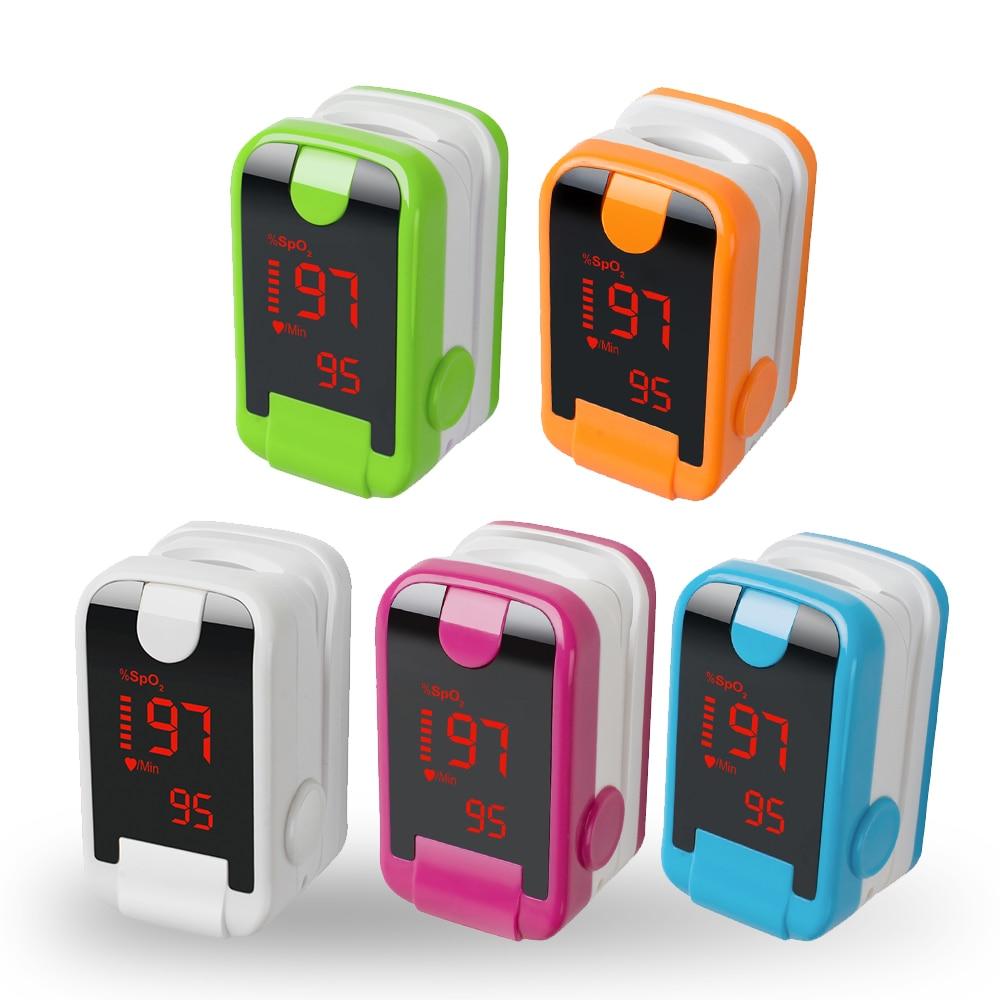 5 Color 2018 New LED Pulse Oximeter Portable Finger Pulse Oximeter Blood Oxygen Health Care Blood Oxygen SpO2 PR Monitor