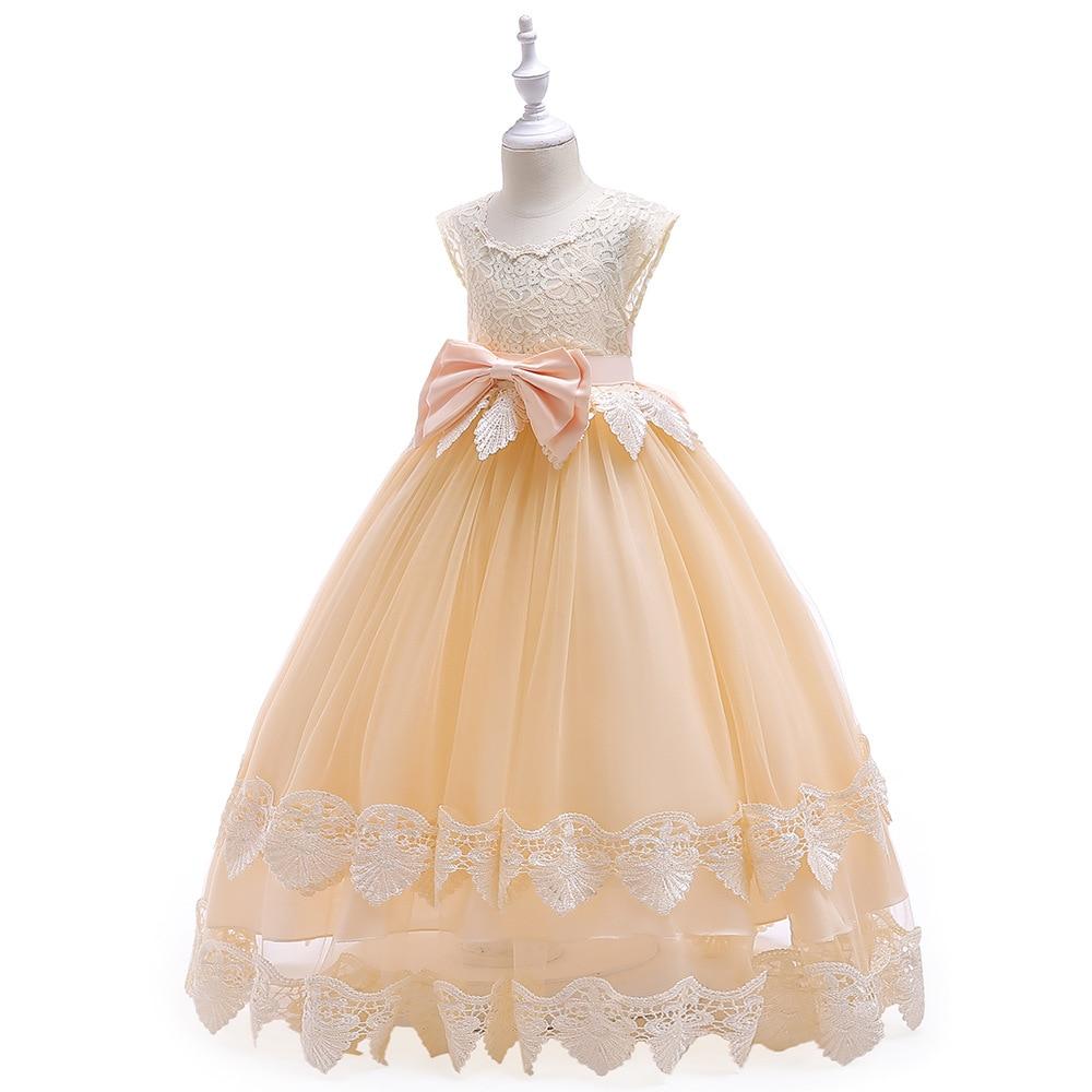 Новинка года, Открытое платье с цветочным рисунком на спине для девочек высококачественное свадебное платье с цветочным узором для мальчиков элегантное праздничное платье с кружевом и цветочным узором для девочек