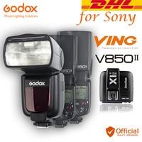Free DHL 3pcs Godox V850II HSS 2.4G Wireless X System Flash Speedlite Li ion battery+Transmitter For Sony A6500 A6300 A7R Camera