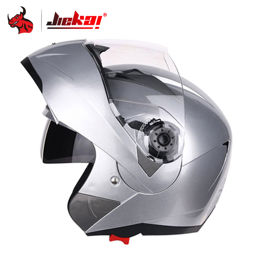 JIEKAI Motorcycle Helme Men Motocross Full Face Helmet Double Lens Flip Up Visor Racing Modular Motorbike Riding Moto Casco red green lines double lens motorcycle crash helmet high quality flip up electric motorbike full face motorcycle helmet
