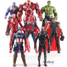 Avengers 3 Infinity War Hulk Black Panther Thor Captain America Spiderman Thanos Iron Man Hulk Buster PVC Action Figure Toy