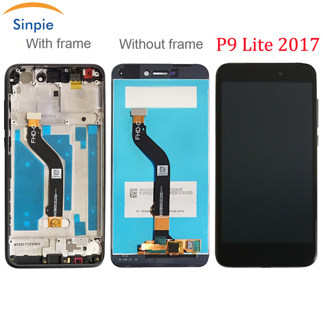 Sinpie 100% Tested Working For Huawei P9 Lite 2017 LCD Display With Touch Screen Digitizer With Frame Spare Parts Free Tools