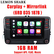 Autorradio de coche MIB y Carplay, accesorio para VW Golf 6 Jetta CC MK6 MK5 Tiguan Passat B6 B7 187B, RCD330 Plus RC330G de 6RD 035 187B