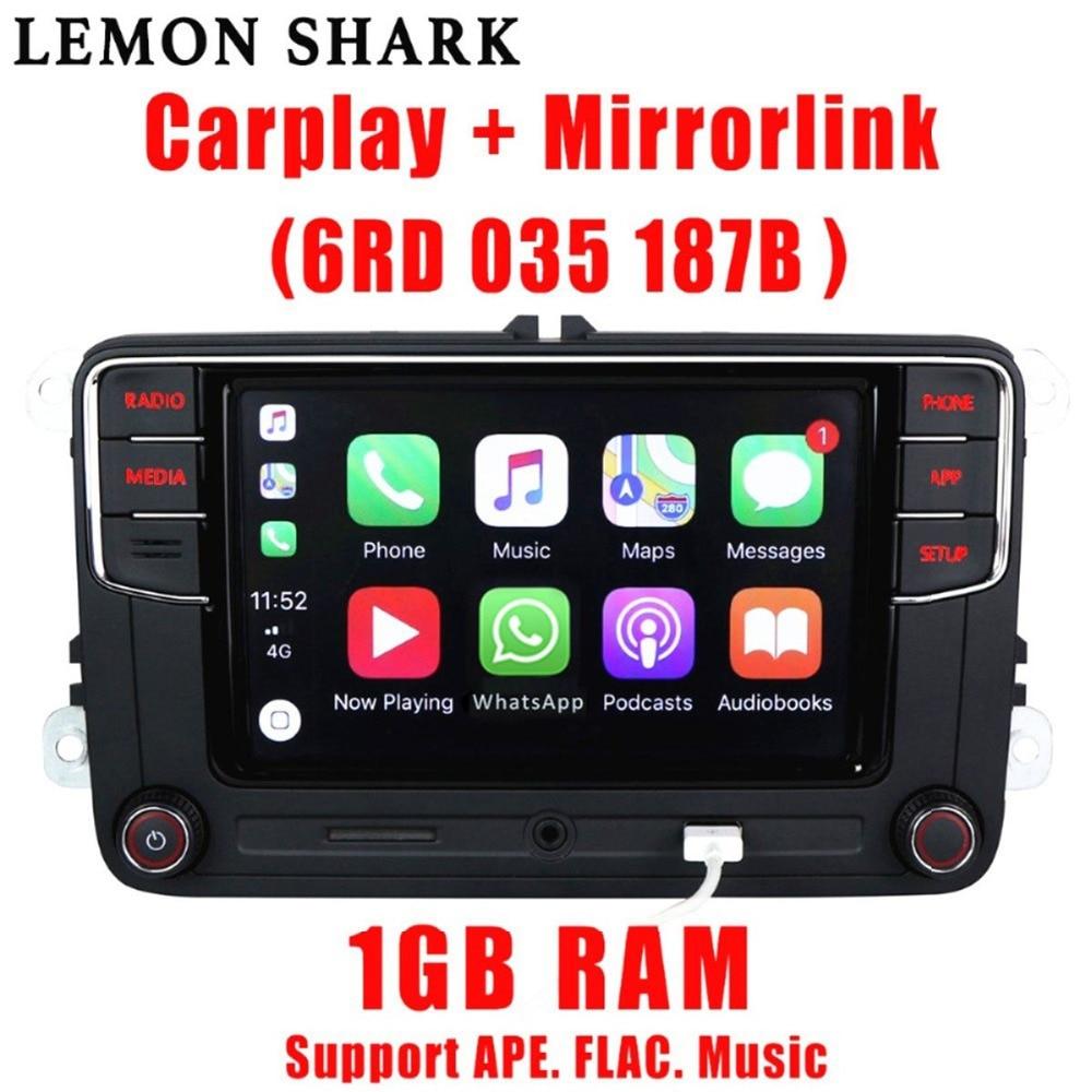 MIB Rcd330 Plus RCD330G Carro Carplay Rádio RCD 330 330G 6RD 035 5 6 187B Para VW Golf Jetta tiguan Passat CC MK6 MK5 B6 B7 187B