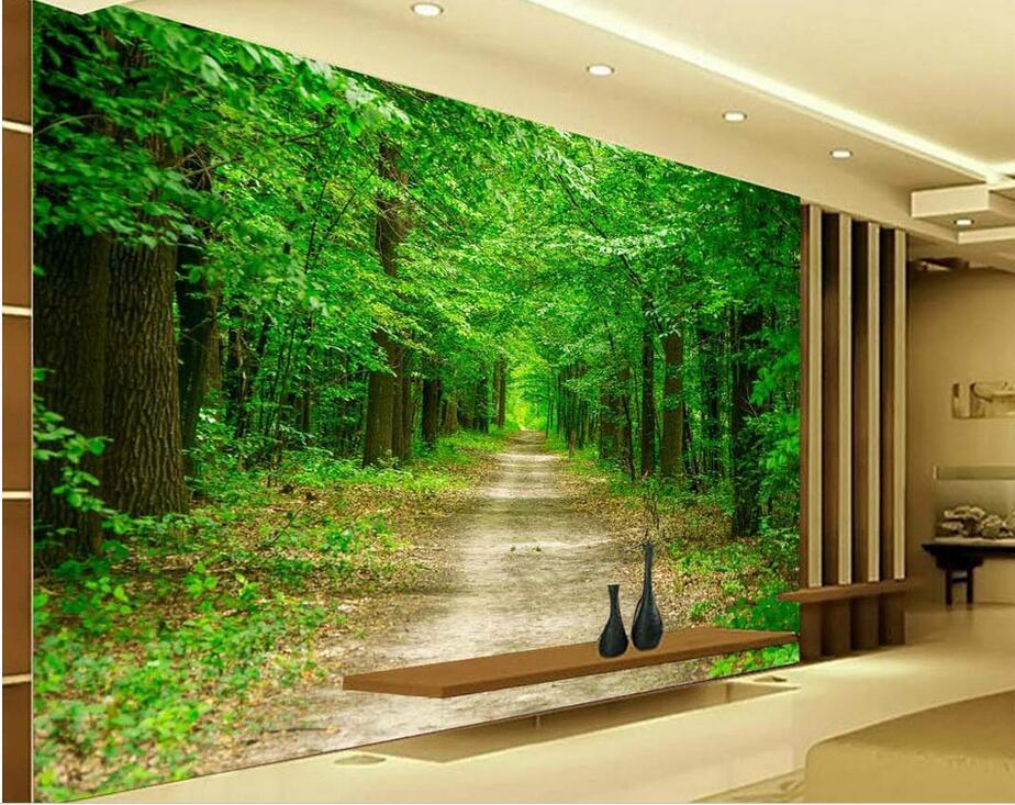 Custom photo 3d wallpaper Non woven mural Forest landscape