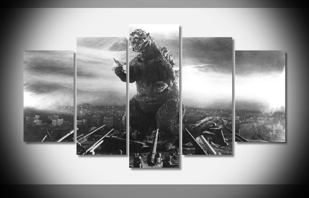 6570 Godzilla Original Poster Print On Canvas Gallery Wrap