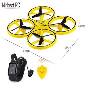 Image 5 - Novo mini drone pulseira controle infravermelho desvio de obstáculos mão controle altitude hold 2.4g quadcopter para crianças brinquedo presente zf04