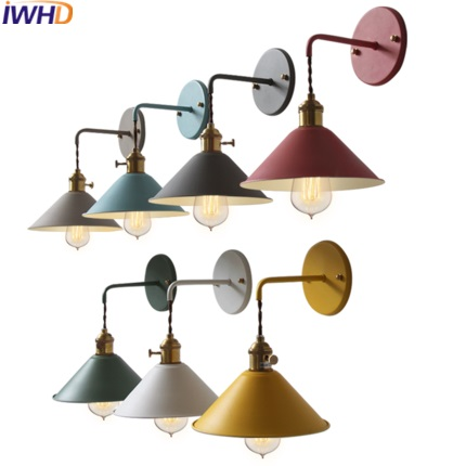 IWHD Nordic Style Iron Sconce Wall Lamp Modern Color Stairs Wall Light Fixtures Home Lighting Luminaire On The Wall WandlampIWHD Nordic Style Iron Sconce Wall Lamp Modern Color Stairs Wall Light Fixtures Home Lighting Luminaire On The Wall Wandlamp