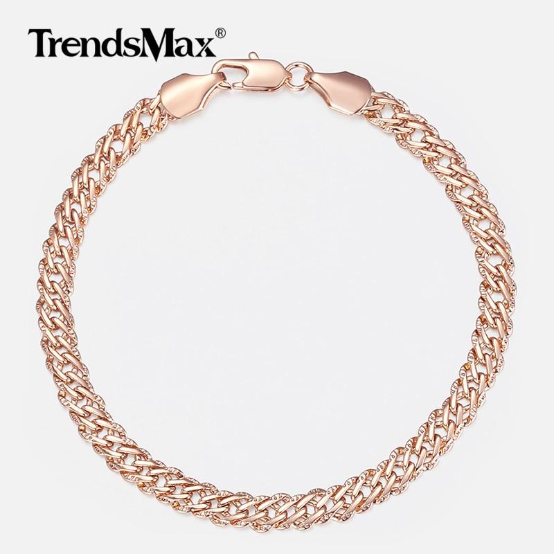 Trendsmax Damen Armband Licht Rose Gold gefüllt Venitian Kette - Modeschmuck