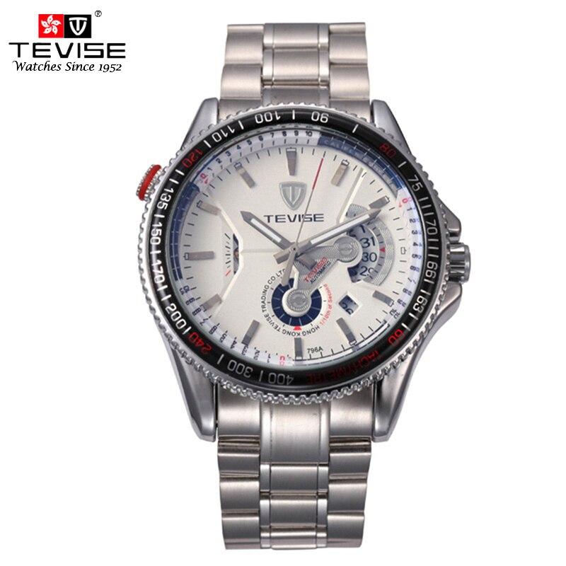 c3b0cafc129 TEVISE Relógios Mens Automatic Self Vento Relógio Mecânico Auto Data de Aço  Inoxidável relógio de Pulso de Luxo Relojes Hombre 796A em Relógios  mecânicos de ...
