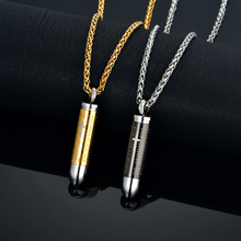 Jesus's Cross Bullet Necklace & Pendant Christian Jewelry Bible Lord's Prayer Gold Color Stainless Steel Necklace For Women/Men  недорого