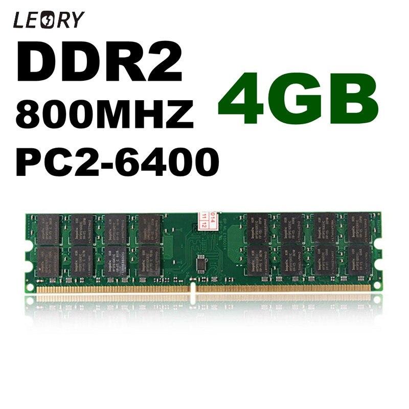 4 GB DDR2 memoria RAM 800 MHz PC2-6400 240 memoria para PC para AMD Motherboard alta calidad tarjeta de memoria para el ordenador portátil