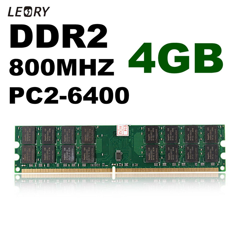 4GB DDR2 Memory RAM 800MHZ PC2-6400 240 Pins Desktop PC Memory For AMD Motherboard Hight Quality Memory Card For computer Laptop