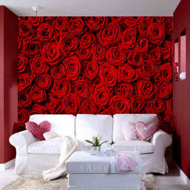 Photo Wallpaper Modern Rose Wall Living Room Tv Backdrop Mural